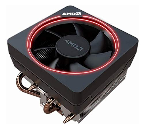 AMD Wraith Max RGB LED Lighting Socket AM4 4-Pin Connector CPU Cooler with Copper Core Base & Aluminum Heatsink & 4.13-Inch Fan with Pre-Applied TRONSTORE Thermal Paste for Desktop PC Computer (TS47)