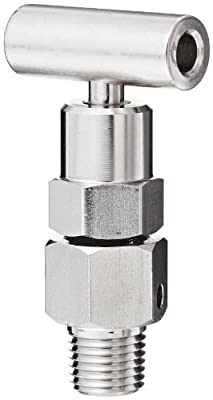 "NOSHOK 800 Series Zinc-Nickel Plated Steel Bleed Hard Seat Needle Valve, 1/4"" NPT Male, 10000 psi Pressure Range from NOSHOK, Inc."