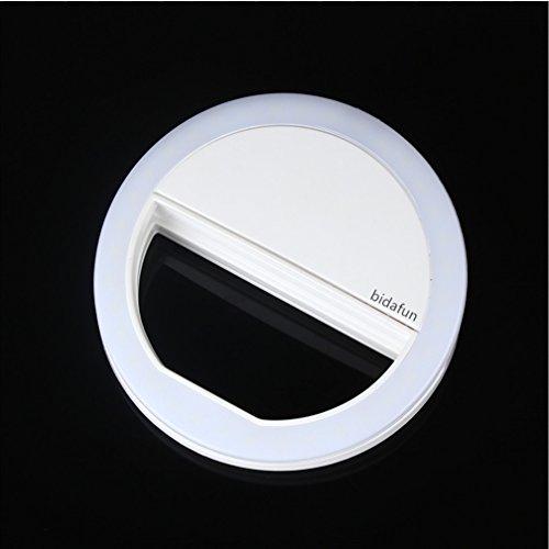 bidafun Selfie Ring Light, Selfie Light 36 LED Spotlight Flash Selfie Light Ring Camera Photo Video Light Lamp Cell Phone-White