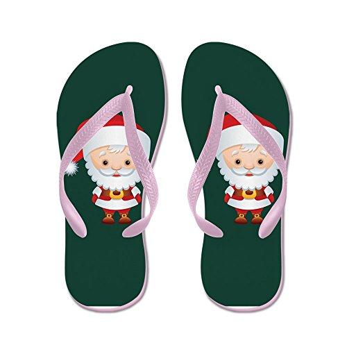 Truly Teague Hombres Christmas Cuties Santa Claus Chancletas De Goma Sandalias Pink