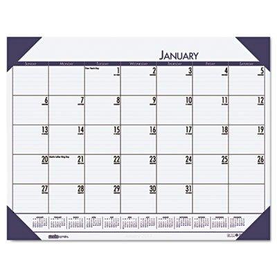 HOD124640 - EcoTones Ocean Blue Monthly Desk Pad Calendar (Desk Monthly Calendar Ecotones Pad)