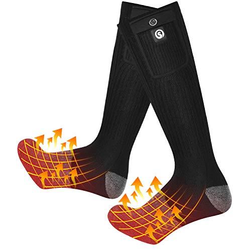 Heated Socks,7.4V 2200MAH Electric Rechargeable Battery Heating Socks Men Women for Hunting Fishing Camping Hiking Riding Motorcyle Ski Warm Cotton Socks Foot Warmer