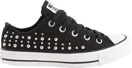 Converse Femmes Chuck Taylor Tout Étoiles Bas Toile Studs Sneaker Oxheart