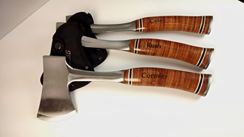 Set of 3PERSONALIZED ENGRAVED AXES with Leather Grip Handle Personalized WEDDING GIFT Mans Cave,Gift for Him.groomsman gift,Father of Groom,gift gift for him,Engraved Axe.Are you ready for the WEDDING by Cardinal Gift