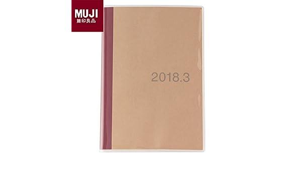 Muji 2018 papel mensual calendario de nota A5 tamaño ...