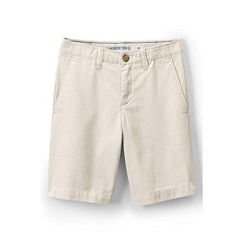 Lands' End School Uniform Boys Slim Cadet Shorts, 12, Antique Alabaster - Lands End School Uniforms