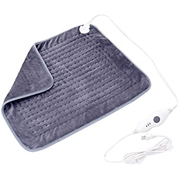 Heating Pads for Back Pain 20''x24'' Extra Large Heat Pad with Auto Shut Off 3 Temperature Setting XXL Electric Heating Pad Gray by Mosabo