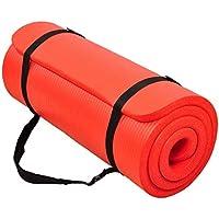 BalanceFrom GoCloud uniwersalna 2,5 cm bardzo gruba antypoślizgowa mata do ćwiczeń jogi z paskiem do noszenia