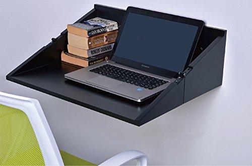 SLS Vision. Floating Foldable Black Lap Top Wall Desk or Storage. B04