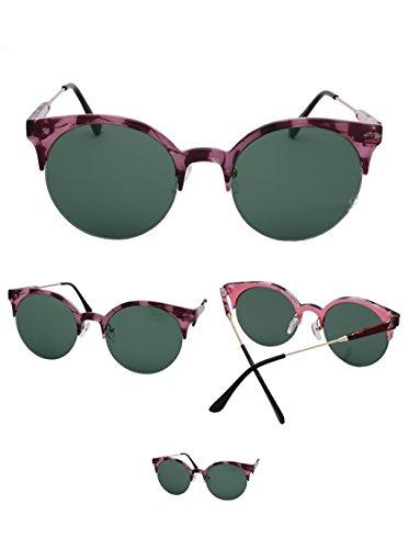 Half Soleil A Soleil Reflective Trendy de Couleur Lunettes Lunettes Vintage Frame de Glasses Lunettes Couleur des A Lunettes Film vSHYq