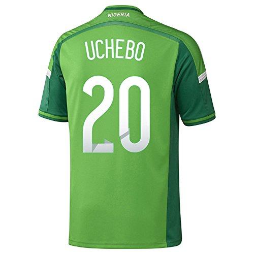 熱心過度にサンダーAdidas UCHEBO #20 Nigeria Home Jersey World Cup 2014/サッカーユニフォーム ナイジェリア ホーム用 ワールドカップ2014 背番号20 ウチュボ