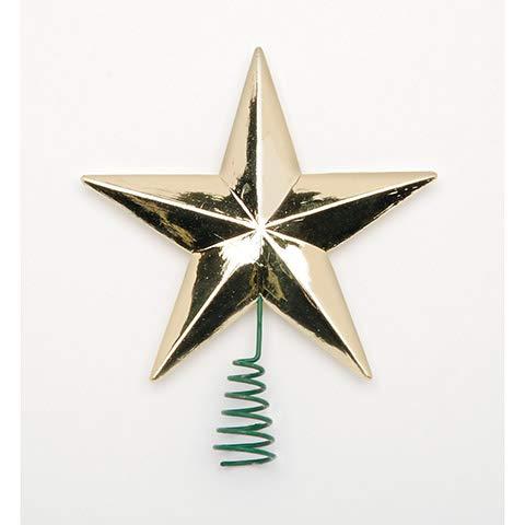 Darice Star Tree Topper - Medium - Gold - 2 inches