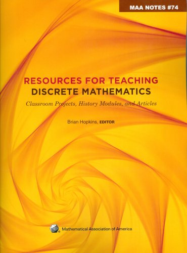Resources for Teaching Discrete Mathematics (M a a Notes)