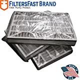FiltersFast Compatible Replacement for Trion 16'' x 25'' x 3'' (Actual Size:15-3/4'' x 24-1/4'' x 3'') Air Bear Cub Filter 255649-101 - MERV 8 3pk s