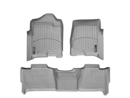 WeatherTech - 46066-1-2 - 2011 Chevrolet Tahoe Grey 1st & 2nd Row FloorLiner ()