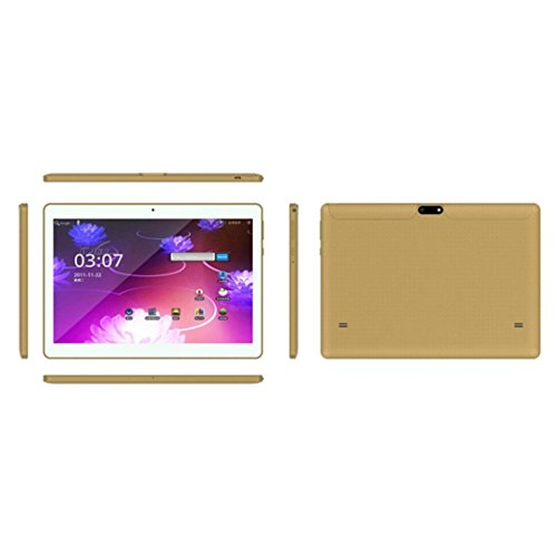 Price comparison product image Android Smart Tablet,PC Tablet 10.1 Inch 4G + 64G Android 6.0 Dual Sim Dual Camera Wifi Phablet (Gold)