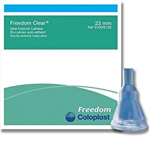 30 -Pack Condom External Catheter 23mm SMALL Freedom Clear Adhesive, Item #5100