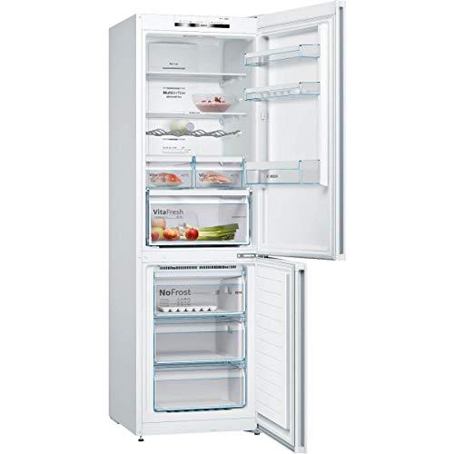 41i Zv8y3lL. SS500 Haz clic aquí para comprobar si este producto es compatible con tu modelo Organiza tu compra y conserva los alimentos frescos durante más tiempo gracias al frigorífico Bosch KGN36VW3A con nevera de 324l y congelador de 87l. Su tecnología No Frost evitará que se forme escarcha en el congelador, por lo que ahorrarás tiempo y esfuerzo en su mantenimiento.