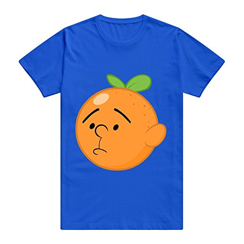 - CUAUNED Annoying Orange By Stelar Eclipse D7svmdz T-shirt For Men - XXL RoyalBlue Funny 100% Cotton RoyalBlue T Shirts