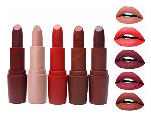 Lipstick Matte Moisturizing (AL'IVER Matte Lipstick Long Lasting Vivid Moisturizing Lipstick (5 PCs))