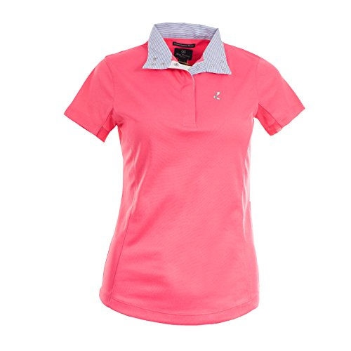 - Horze Ladies Blaire UV Ice Fit Short Sleeve Show Shirt 4 Peony Pink