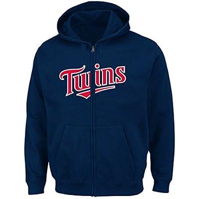 Minnesota Twins MLB Youth Team Wordmark Synthetic Full Zip Fleece Hoodiie (Youth Medium 10/12)