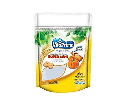 Biscoito Integral Natural Premium VitaPrime Super Mini Abóbora Com Frango Para Cães