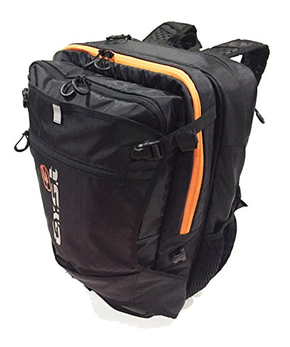 GYST BP1-18 Water repellent Fabric and Reverse Mounted Backpack, Black/Orange by GYST