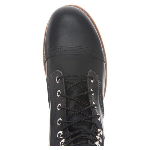 Red Wing Shoes - Zapatos de cordones de cuero para hombre negro