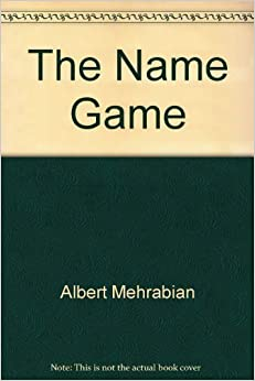 Book The Name Game by Albert Mehrabian (1992-06-06)