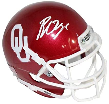 Image Unavailable. Image not available for. Color  Baker Mayfield Oklahoma  Sooners Signed Autograph Schutt Mini Helmet ... a8bc83b04
