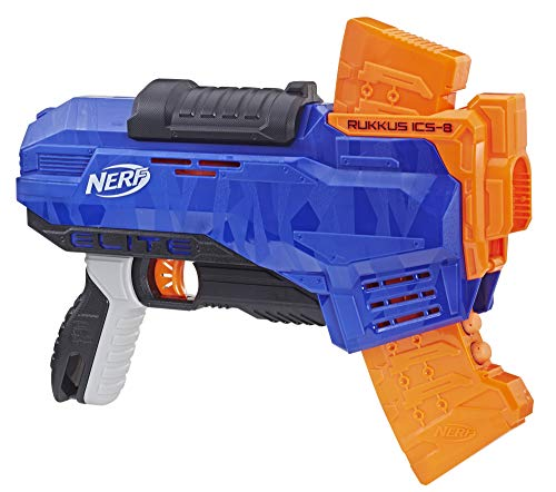 NERF N-Strike Elite Rukkus ICS-8 (Best Nerf Gun For The Price)