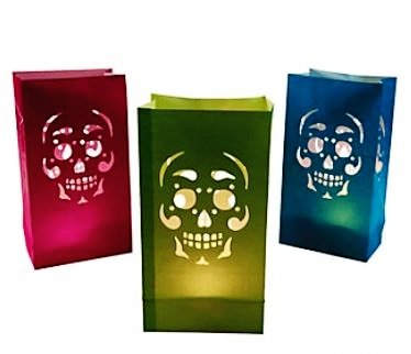 Day Of The Dead Party Decor (Day Of The Dead Luminary Bags - 12ct)