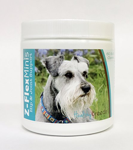 1129 Miniature - Healthy Breeds Z-Flex Minis Hip and Joint Support Soft Chews,  Miniature Schnauzer  / 60 Count