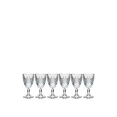 Godinger Set of 6 Dublin Cordial Glasses, Clear