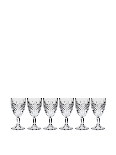 Godinger Set of 6 Dublin Cordial Glasses, Clear 3 Oz Wine Goblet