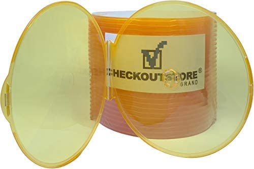 CheckOutStore Clear Compact Clamshell Orange product image