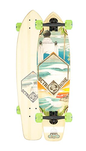 Sector 9 Swamis Complete Longboard Skateboard Cruiser (Green Wheels, w/ Upgraded Bones Bearings)