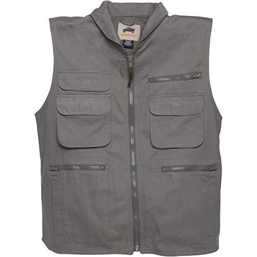 (HUMVEE HMV-VR-OD-S Small Cotton Ranger Vest with Hideaway Hood, Olive)
