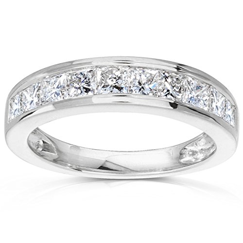 Diamond Band 1 carat (ctw) in 14kt White Gold, Size 8, White Gold by Kobelli