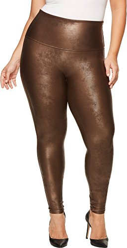 SPANX Plus Size Ready-to-Wow Faux Leather Leggings, 2X, Bronze Metal by SPANX