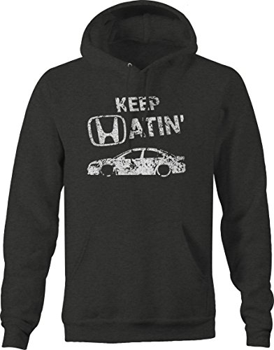 Hoody Honda Sweatshirt (OS Gear Distressed - Keep Hatin Honda Accord Lowered Fast JDM Racing Sweatshirt - 2XL)