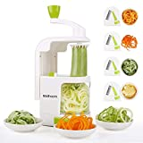 Spiralizer 4-Blade Vegetable Spiralizer Sedhoom Heavy Duty Spiral Slicer Zucchini Noodle & Veggie
