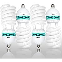Emart 105 Watt Full Spectrum Photography Lighting Photo Studio Light Bulb, 5500K CFL Daylight Balanced - 4 Pack