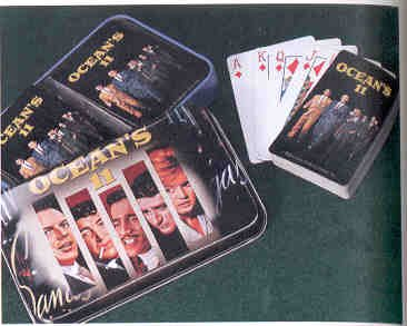 Ocean's 11 Playing Card Set Featuring the Cast of the 1960 Movie: Frank Sinatra, Dean Martin, Sammy Davis Jr, Peter Lawford & Angie Dickenson