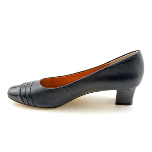 Auditions Frauen Classy Cap Toe Leder Klassische Pumps Navy
