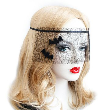 Halloween Costume Black Bat Net Yarn Mask Toys for Masquerade Ball Party - Makeup Tools Other Tools - 1 x Mask
