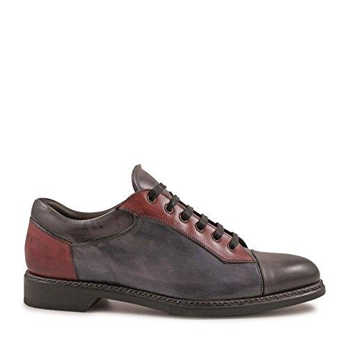 Leonardo Sko Herre 4848oxforddelavegrigio Flerfarvet Leder Sneakers PtVLNk