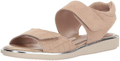 BeautiFeel Women's Romi Flat Sandal, Champagne Crocco Print Suede, 360 M EU (5 (Beautifeel Sandals)