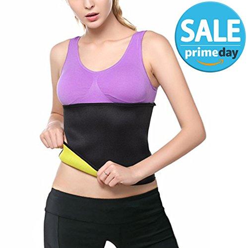 FITVC Thermo Sweat Hot Shapers Slimming Sauna Belt Slim Waist Trainer Trimmer Weight Loss Neoprene for Women & Men